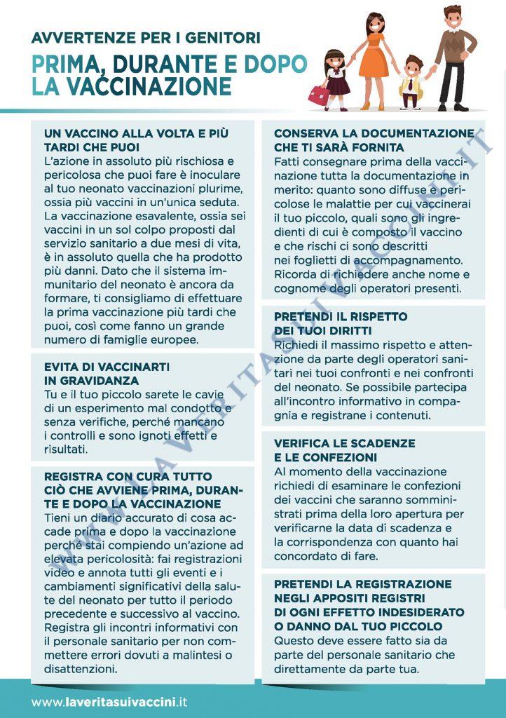 Vaccini sì o no? Pagina 7 dell'opuscolo